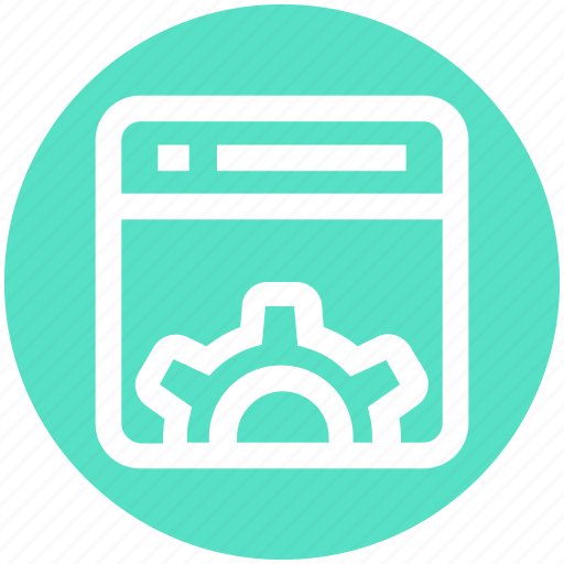 gear, page, seo, setting, setup, web page, website icon