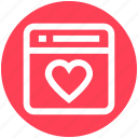 favorite, heart, page, romance, seo, web page, website