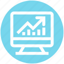 earning, graph, lcd, marketing, monitor, seo, site