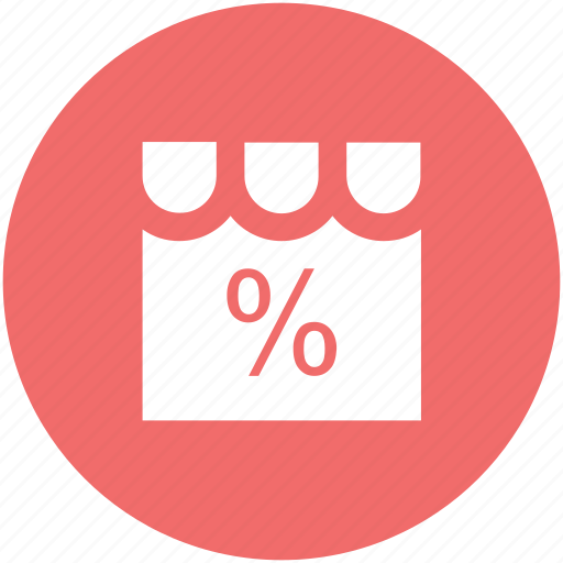 building, discount, market, percentage, shop, store, supermarket icon