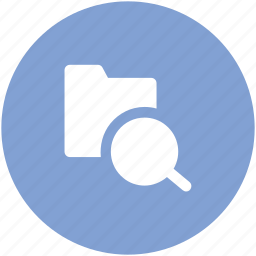 document and magnifier, document with magnifier, search document icon
