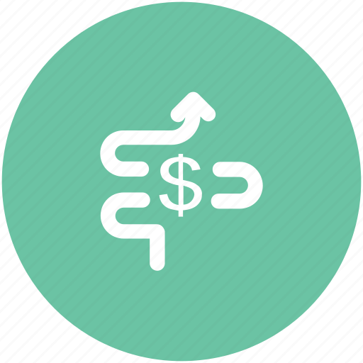 analytics, business, dollar, dollar valuation, earning, finance, money icon
