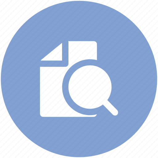 file and magnifier, file with magnifier, search engine, search file, searching, seo icon