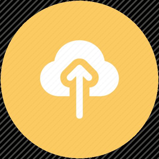 cloud, cloud computing, icloud, up arrow, upload icon