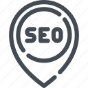 location, marker, marketing, pin, pointer, seo icon