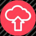 arrow, cloud, marketing, online, seo, up, upload
