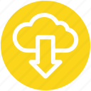 arrow, cloud, down, download, marketing, online, seo icon