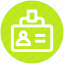 account, card, id, id card, seo, user, user card icon