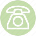call, contact, old, phone, seo, telephone icon
