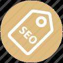 badge, label, marketing, seo, seo tag, tag, title
