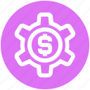 business, cogwheel, dollar, gear, money, seo, setting