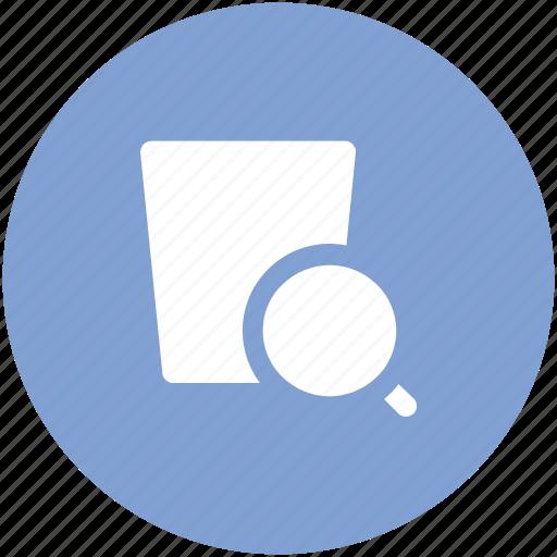 basket, magnifier, magnifying, search basket, search glass, shopping, shopping basket icon