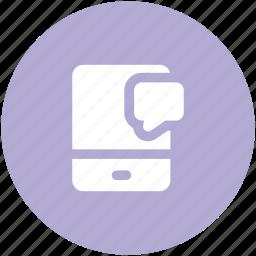 bubble chat, comments, communication, messaging, mobile chat, speech bubble, talking icon