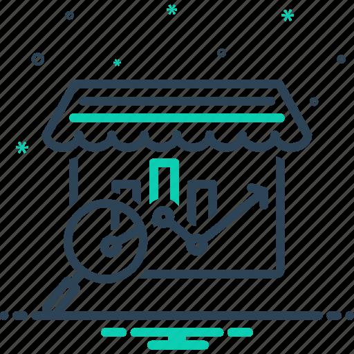 analysis, bazaar, market, market analysis, research icon
