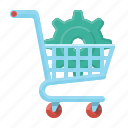 commerce, e-commerce, optimization, seo, ecommerce, shop, trolley icon