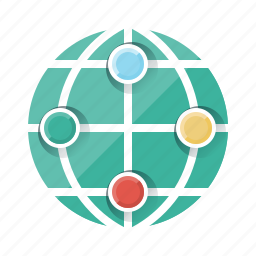 communication, globe, internet, network, online, social, social network icon
