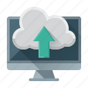 arrow, cloud, data, internet, seo, up, upload icon