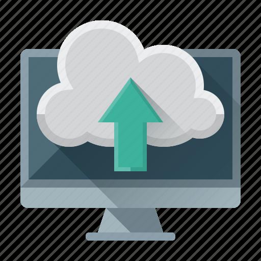 arrow, cloud, data, internet, seo, up, upload icon