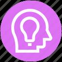 business, head, idea, light bulb, people, seo, thinking