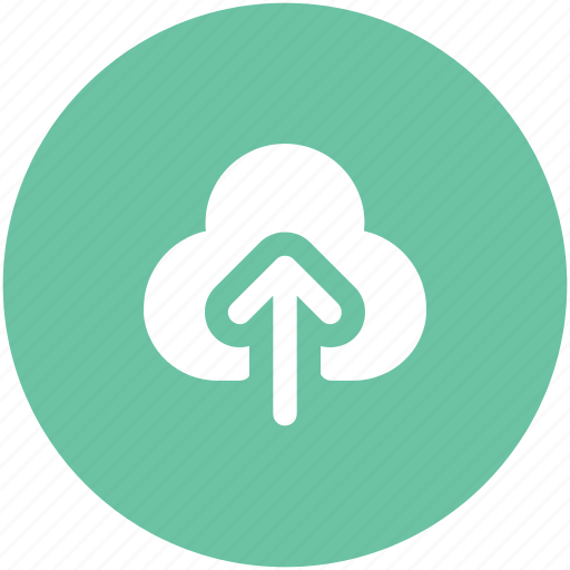 cloud arrow, indicator, into, up sign, upload, uploading, upward icon
