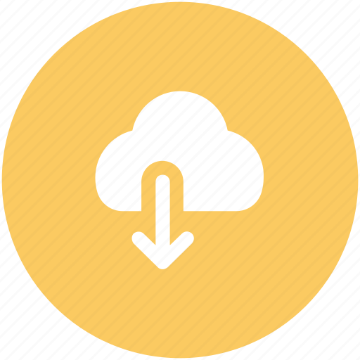 cloud, cloud computing, down arrow, download, icloud icon