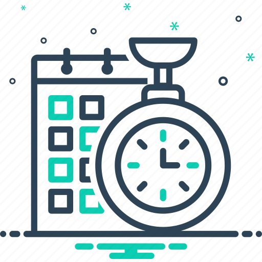 efficiency, management, organize, planning, time, time planning icon