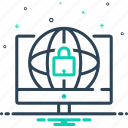 protection, safety, security, web, web security icon