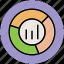 analytics, bar chart, business analytics, chart, financial chart, market, pie chart icon