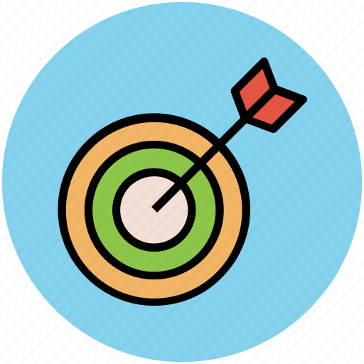 archery, business target, dartboard, optimization, target icon