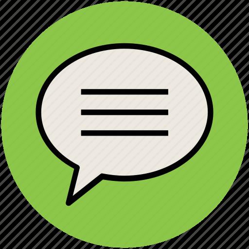 chat bubble, chatting, comments bubble, communication, conversation, speech bubble, talking icon