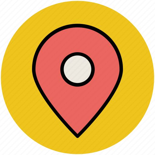 gps, location marker, location pin, map locator, map pin, map pointer, navigation icon