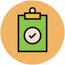 accepted list, checklist, clipboard, list, notepad, paper, verified list icon