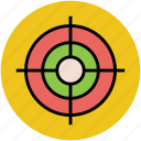 aim, crosshair, focus, goal, shooting, target icon