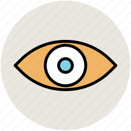 eye, retina, sight, view, visible icon