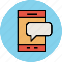 bubble chat, comments, communication, messaging, mobile chat, speech bubble, talking icon