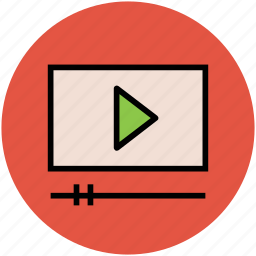 media player, multimedia, pause, screen, video, video play, video player icon