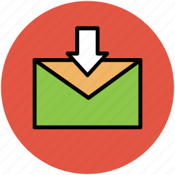 envelop, inbox, letter, message received, received email icon