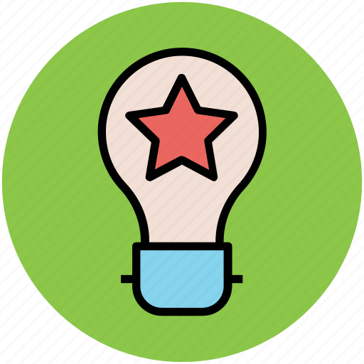 bulb, bulb light, creative campaigns, idea, light bulb, star bulb icon