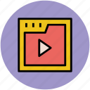 multimedia, pause, player, screen, video, video player icon