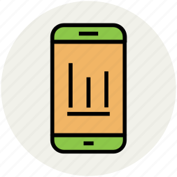 bar graph, commerce, dashboard, marketing, marketing analysis, mobile graph, trading icon