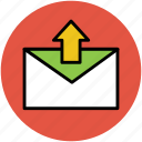 email, envelop, letter, outbox, outbox mail icon
