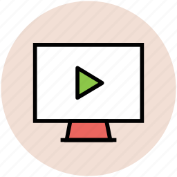 media player, multimedia, pause, screen, video, video player icon