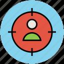 crosshair, focus, human target, shooting, target icon
