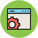 cog, cogwheel, gear, web optimization, web setting icon