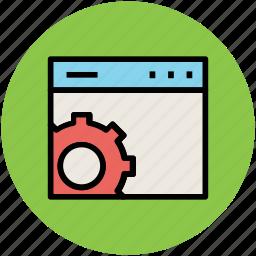 cog, cogwheel, gear, web optimization, web setting icon