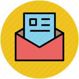 envelope, letter, letter paper, open envelop icon
