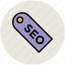 label, search engine optimization, seo tag, tag icon