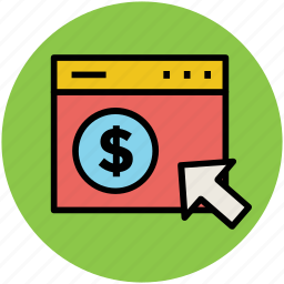 dollar, e commerce, online business, online payment, online shopping icon