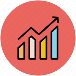 bar graph, business analysis, chart, diagram, graph, growing graph, infographic icon