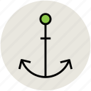 anchor, boat anchor, marine, nautical, sea, yacht anchor icon